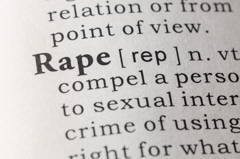 Fake Dictionary, Dictionary definition of the word rape.
