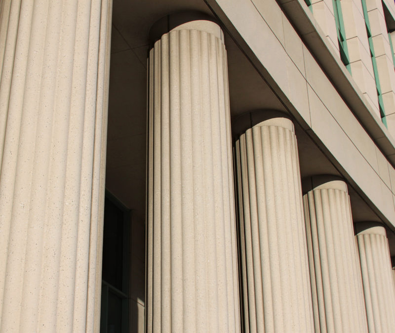 pillars at the court house in downtown