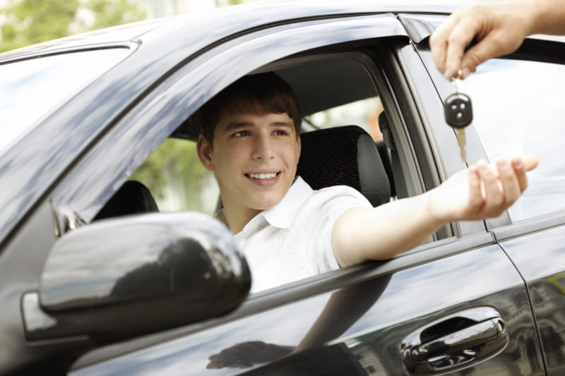 car rent or leasing concept, selective focus on eyes, special toned photo f/x